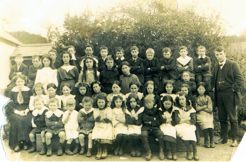 Pupils and Teachers From Graystown National School C.1918.